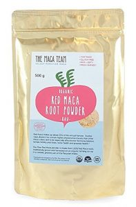 Certified Organic Raw Red Maca Root Powder - 500gr - Highest Nutrients of All Maca, Fresh Harvest From Peru, Certified Organic, Fair Trade, GMO-Free, Gluten Free Vegan and Raw, 50 Servings